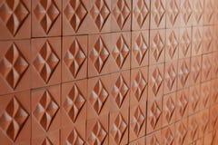 Teste padrão telhado para o tijolo vermelho replicate contínuo foto de stock royalty free