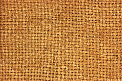 Teste padrão textured natural do saco do café da textura da juta do pano de saco de serapilheira, lona de despedida do país escur Fotos de Stock Royalty Free