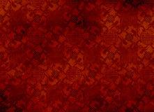 Teste padrão textured vermelho chinês em filigree para o backg Fotos de Stock