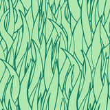Teste padrão tirado da grama verde do vetor mão sem emenda Ilustração do Vetor