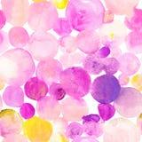 Teste padrão tirado do ponto da aquarela da cor de água mão abstrata sem emenda Fotografia de Stock Royalty Free