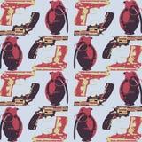 Teste padrão tirado mão do pop art com colorfull Imagem de Stock Royalty Free