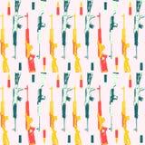 Teste padrão tirado mão do pop art com colorfull Fotos de Stock Royalty Free