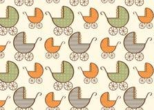 Teste padrão tirado mão do transporte de bebê Fotografia de Stock Royalty Free