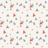 Teste padrão tirado mão do triângulo Imagem de Stock Royalty Free