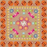Teste padrão três de Halloween Ilustração do Vetor
