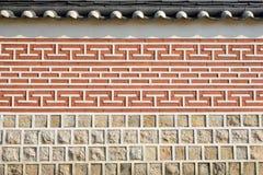 Teste padrão tradicional coreano da parede Imagens de Stock