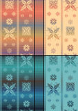 Teste padrão tradicional nórdico de Snowflacke Ilustração do Vetor