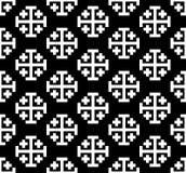 Teste padrão transversal monocromático Ilustração do vetor de Black&white Foto de Stock Royalty Free