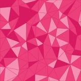 Teste padrão triangular Fundo geométrico Poligonal cor-de-rosa imagem de stock