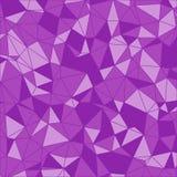 Teste padrão triangular Fundo geométrico Poligonal roxo Fotografia de Stock Royalty Free