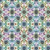 Teste padrão tribal étnico da mandala colorida festiva abstrata Foto de Stock Royalty Free