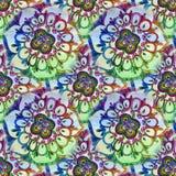 Teste padrão tribal étnico da mandala colorida festiva abstrata Imagem de Stock Royalty Free