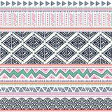 Teste padrão tribal abstrato Imagens de Stock Royalty Free