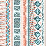 Teste padrão tribal abstrato Foto de Stock