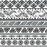 Teste padrão tribal abstrato Fotografia de Stock