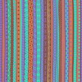 Teste padrão tribal abstrato da garatuja Imagens de Stock Royalty Free