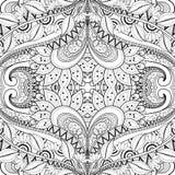 Teste padrão tribal abstrato sem emenda (vetor) ilustração royalty free
