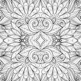 Teste padrão tribal abstrato sem emenda (vetor) ilustração stock