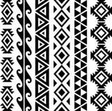 Teste padrão tribal asteca ilustração stock