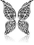 Teste padrão tribal da borboleta Foto de Stock Royalty Free