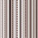 Teste padrão tribal da textura do vetor sem emenda Fotos de Stock