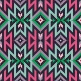 Teste padrão tribal do vetor sem emenda para o projeto de matéria têxtil Fotos de Stock Royalty Free