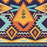 Teste padrão tribal sem emenda do vetor Imagens de Stock Royalty Free