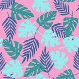 Teste padrão tropical cor-de-rosa ilustração stock