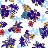 Teste padrão tropical da imagem, Foto de Stock