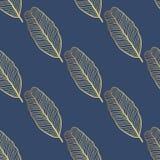 Teste padrão tropical do vetor sem emenda Folhas tropicais do ouro, folhas da selva Fotografia de Stock Royalty Free