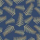 Teste padrão tropical sem emenda Folhas tropicais do ouro, folhas da selva Imagem de Stock Royalty Free