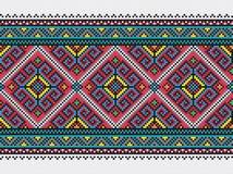 Teste padrão ucraniano do bordado Imagens de Stock Royalty Free