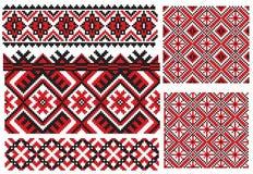 Teste padrão ucraniano do bordado da textura ilustração do vetor