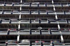 Teste padrão urbano da garagem de estacionamento Foto de Stock