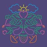 Teste padrão vegetal da cor Imagens de Stock