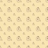 Teste padrão velho da bicicleta ilustração do vetor