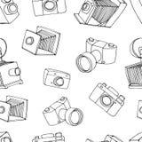 Teste padrão velho da câmera Imagens de Stock Royalty Free