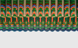 Teste padrão velho da decoração da arquitetura de Coreia fotos de stock royalty free