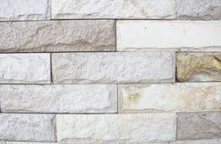 Teste padrão velho da parede de tijolos de Brown Imagens de Stock