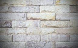 Teste padrão velho da parede de tijolos de Brown Imagens de Stock Royalty Free