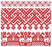 Teste padrão velho do bordado do russo ilustração do vetor