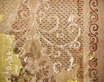 Teste padrão velho do vintage da parede Foto de Stock