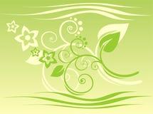 Teste padrão verde ilustração stock