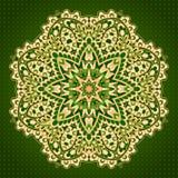 Teste padrão verde arredondado Imagem de Stock