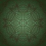 Teste padrão verde arredondado Fotos de Stock Royalty Free