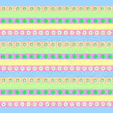 Teste padrão verde cor-de-rosa doce Fotos de Stock