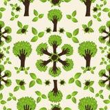 Teste padrão verde da floresta da mão Imagem de Stock Royalty Free