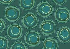Teste padrão verde da repetição do círculo Imagens de Stock Royalty Free