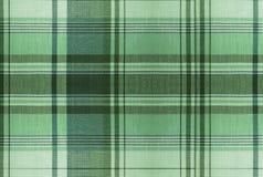 Teste padrão verde da tartã - tabela da roupa da manta Fotos de Stock Royalty Free